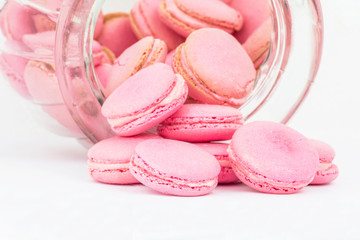 French Macaron In A Glass Jar