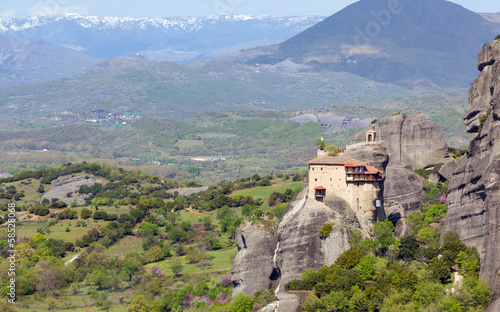 View of St. Nicholas Anapausas monastery, Meteora, Greece