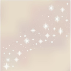 Merry Christmas starry background.