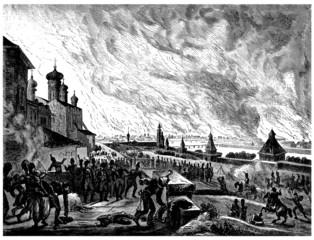 Napoleon Bonaparte - Burning Moscow (1812)