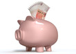 Piggy Bank Saving British Pounds