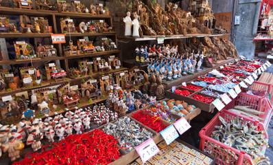 San Gregorio Armeno street of the nativity scene in Naples