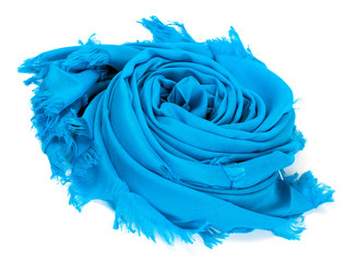 Blue satin scarf
