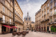 Leinwanddruck Bild - Place du Palais à Bordeaux, Gironde, Nouvelle-Aquitaine, France