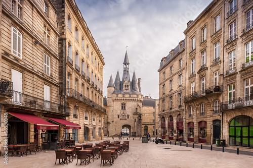 Leinwanddruck Bild Place du Palais à Bordeaux, Gironde, Nouvelle-Aquitaine, France