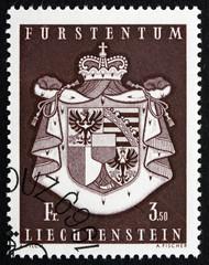 Postage stamp Liechtenstein 1969 Coat of Arms of Liechtenstein