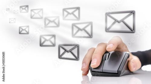 Leinwanddruck Bild Email marketing