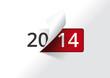 Carte de voeux 2014 - On tourne la page (version blanche)