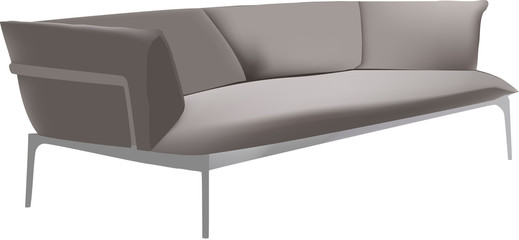 divano.ad angolo grigio