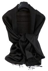 silk scarf black