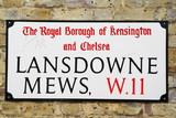 lansdowne Mews  a famous london address poster