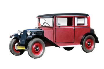 vintage transport. retro car isolated on white background