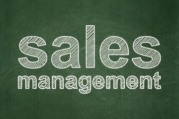 Marketing concept: Sales Management on chalkboard background