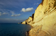 cliff of the island of Corfu in Greece.