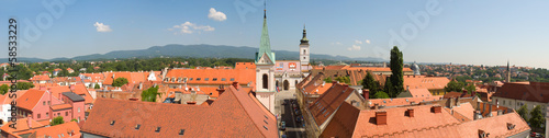 very large panorama of Zagreb. Croatia