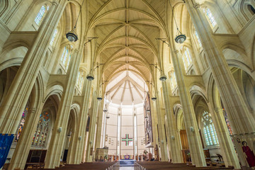 Inside the Cathedral Church of St.Paul, Dunedin, New Zealand