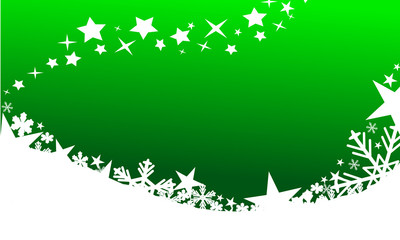 Beautiful green christmas background
