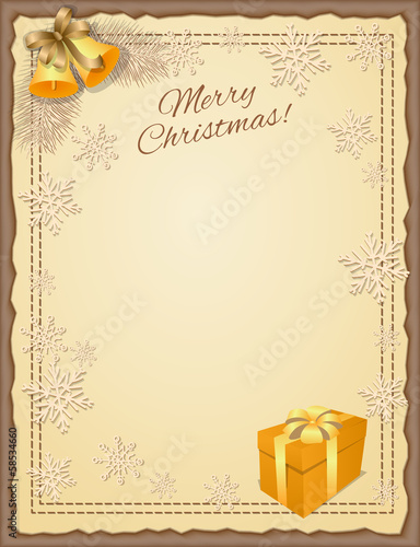 christmas scrapbooking card