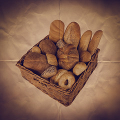 basket bread paper backdrop