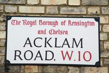 Acklam Road a famous street in London