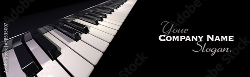 Leinwandbild Motiv Piano