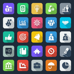 25 flat iconset business