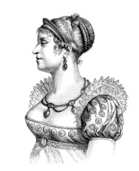 French Empress : Marie-Louise - 19th century