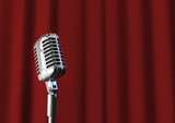Microphone and curtain
