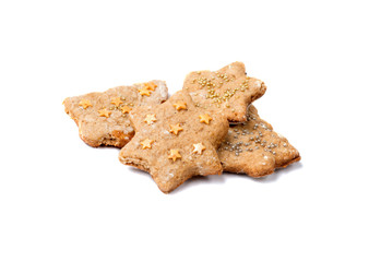 Tasty and nice biscuits with cinnamon and ginger