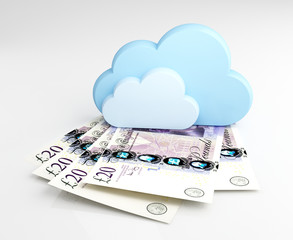 Cloud computing concept, money