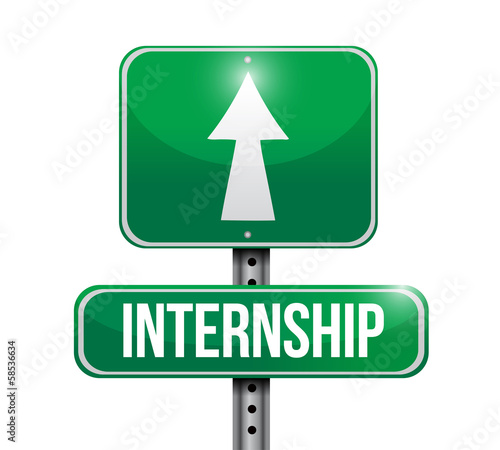 internship road sign illustration design