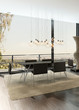 Modern interior with dining table