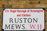 ruston mews a famous London Address poster