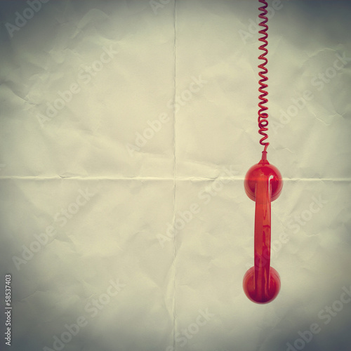 red phone paper backdrop