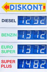 tankstelle - treibstoffpreise - diskont