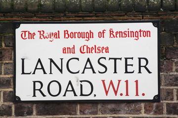 Lancaster road a famous London Address