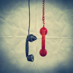 retro phones paper backdrop