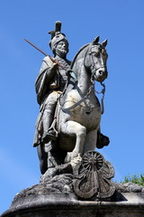 Equestrian statue of Saint Longinus near Braga, Portugal