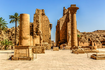 Temple complex of Karnak in Luxor Egypt