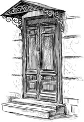 door of town house