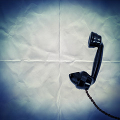 retro phone paper backdrop