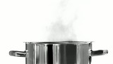 Boiling water in a saucepan