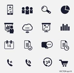 business icon set16