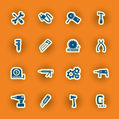 vector homebuilding and construction icons set