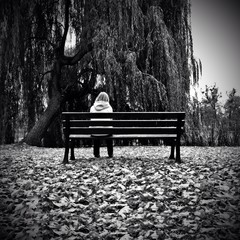 Lonely woman