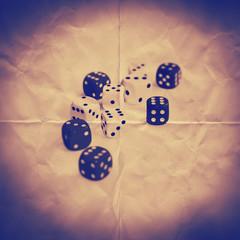 dice paper backdrop
