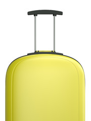 Yellow travel suitcase