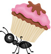 Ant Carrying Cupcake