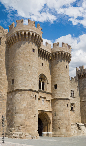 Famous Knights Grand Master Palace in Rhodes, Greece