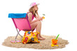 woman in chair at the beach